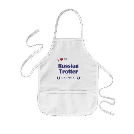 I Love My Russian Trotter (Male Horse) Kids' Apron