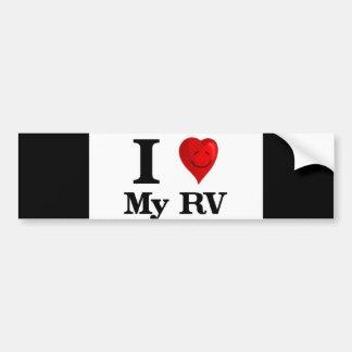 I Love My RV Car Bumper Sticker