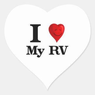 I Love My RV Heart Sticker
