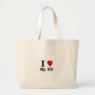 I Love My RV Large Tote Bag