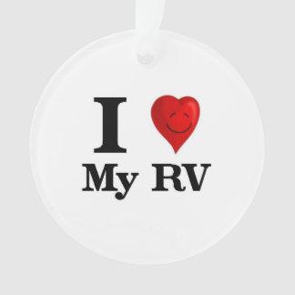I Love My RV Ornament