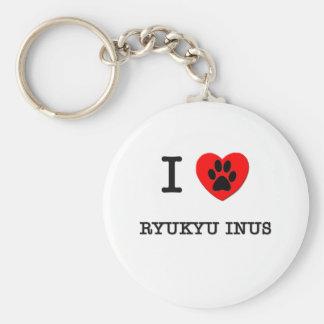 I LOVE MY RYUKYU INUS KEYCHAINS