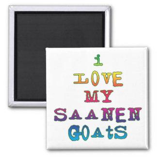 I Love My Saanen Goats Magnet