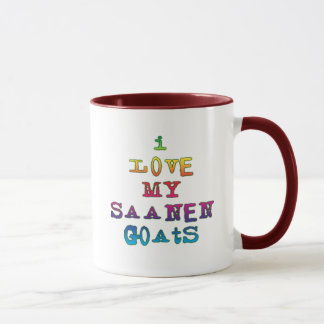 I Love My Saanen Goats Mug
