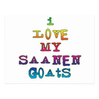 I Love My Saanen Goats Postcard