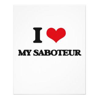 I Love My Saboteur Flyer Design