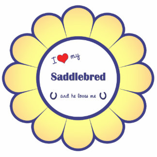 I Love My Saddlebred (Male Horse) Photo Sculpture Ornament