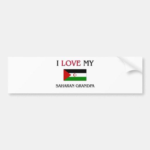I Love My Saharan Grandpa Bumper Sticker