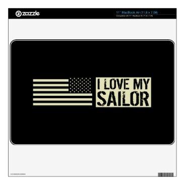 "I Love My Sailor 11"" MacBook Air Decal"