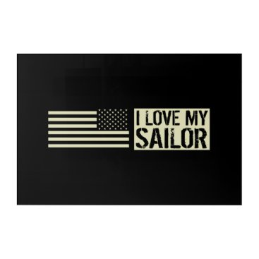 I Love My Sailor Acrylic Print