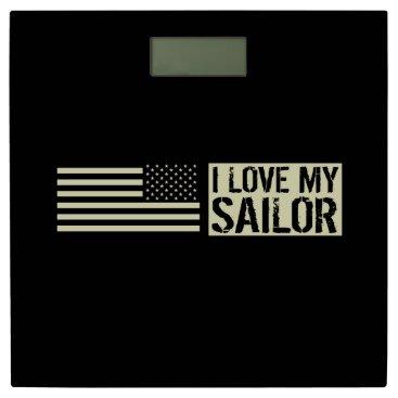 I Love My Sailor Bathroom Scale