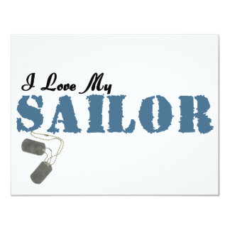 I Love My Sailor Card
