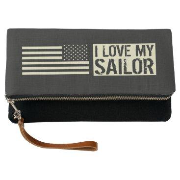 I Love My Sailor Clutch