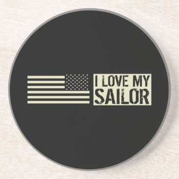 I Love My Sailor Coaster
