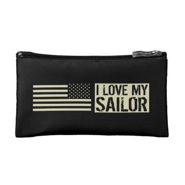 I Love My Sailor Cosmetic Bag