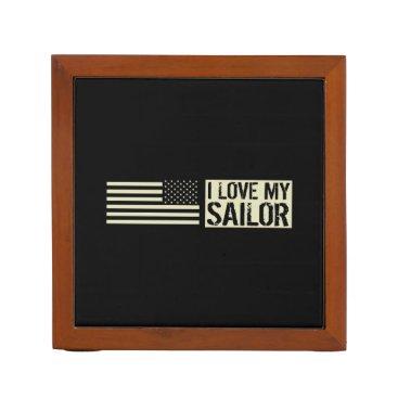 I Love My Sailor Desk Organizer