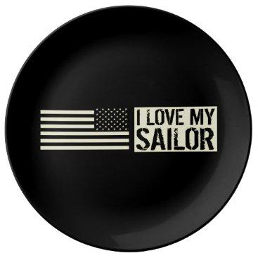 I Love My Sailor Dinner Plate