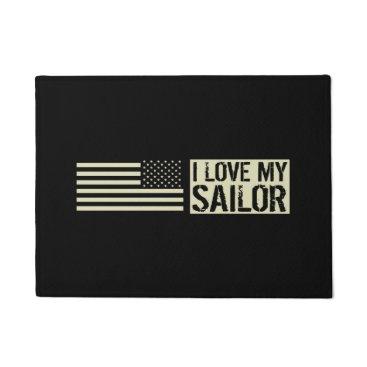 I Love My Sailor Doormat