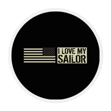 I Love My Sailor Edible Frosting Rounds