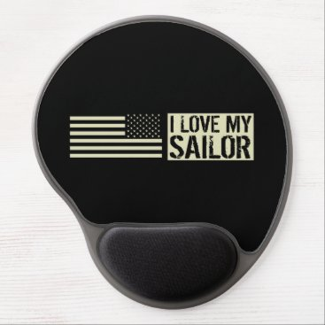 I Love My Sailor Gel Mouse Pad