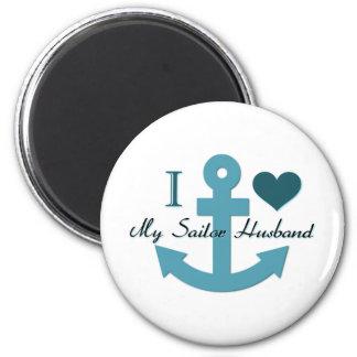 I Love My Sailor Husband Magnet