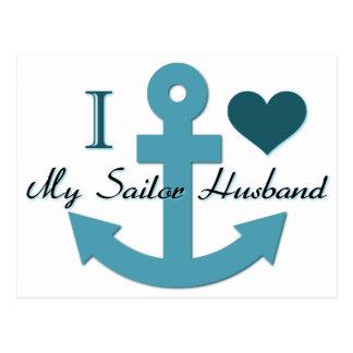 I Love My Sailor Husband Postcard
