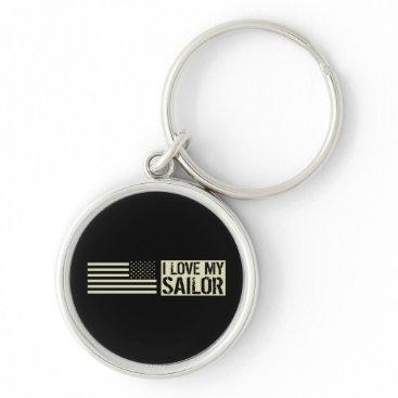 I Love My Sailor Keychain