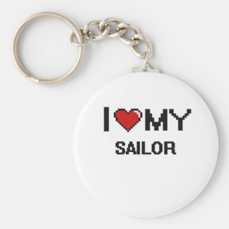 I love my Sailor Basic Round Button Keychain