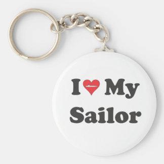 I Love My Sailor! Keychain