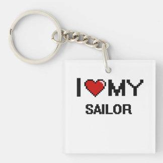 I love my Sailor Single-Sided Square Acrylic Keychain