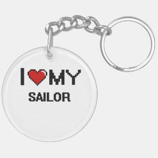 I love my Sailor Double-Sided Round Acrylic Keychain