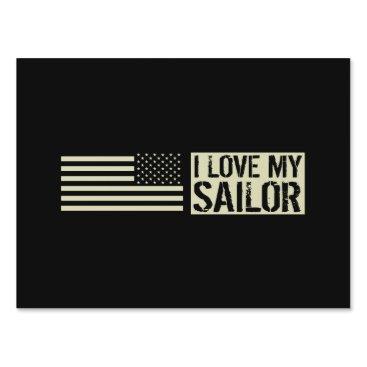 I Love My Sailor Lawn Sign