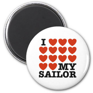 I Love My Sailor Magnet