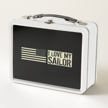 I Love My Sailor Metal Lunch Box