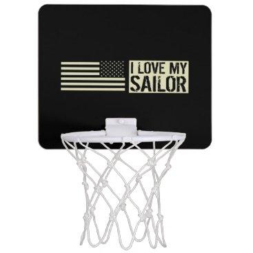 I Love My Sailor Mini Basketball Backboard