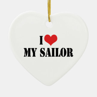 I Love My Sailor Ornament