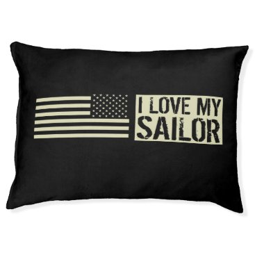 I Love My Sailor Pet Bed