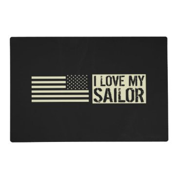 I Love My Sailor Placemat