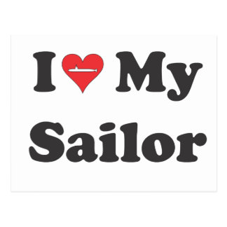 I Love My Sailor! Postcard