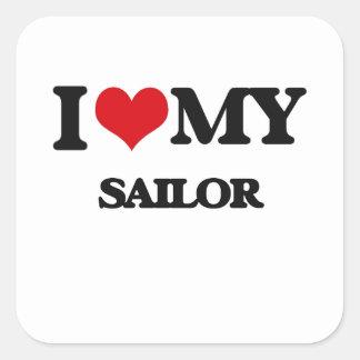I love my Sailor Square Sticker