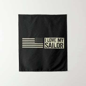 I Love My Sailor Tapestry
