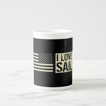 I Love My Sailor Tea Cup