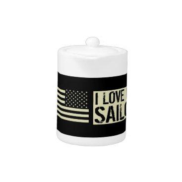 I Love My Sailor Teapot
