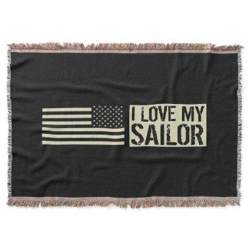 I Love My Sailor Throw