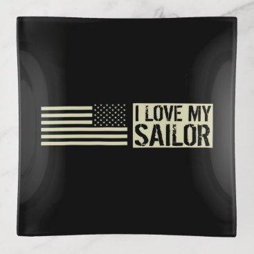 I Love My Sailor Trinket Trays