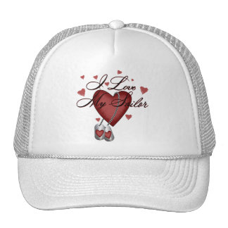 I Love My Sailor Trucker Hat