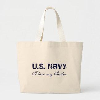 I love my Sailor, U.S. Navy Tote Bags