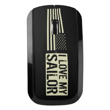 I Love My Sailor Wireless Mouse