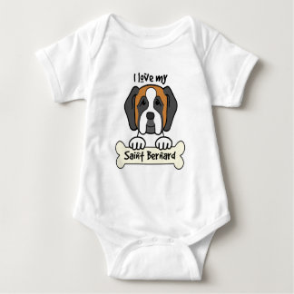 I Love My Saint Bernard Baby Bodysuit