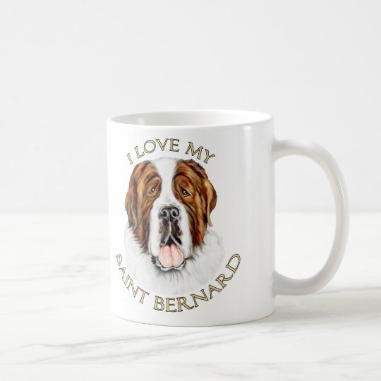 I Love my Saint Bernard Coffee Mug